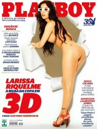 A Playboy brasileira tem costume de aproveitar a Copa para estampar suas capas. Foi assim com a paraguaia Larissa Riquelme, sensação em 2010