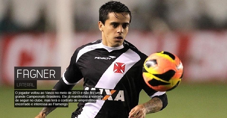 O jogador voltou ao Vasco no meio de 2013 e não fez um grande Campeonato Brasileiro. Ele já manifestou a vontade de seguir no clube, mas terá o contrato de empréstimo encerrado e interessa ao Flamengo.
