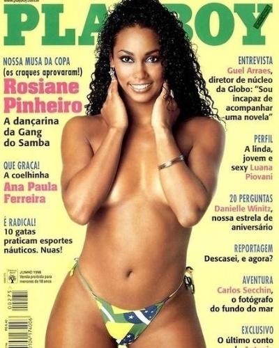 Playboy de 2002 traz Rosiane Pinheiro como 'Musa da Copa'