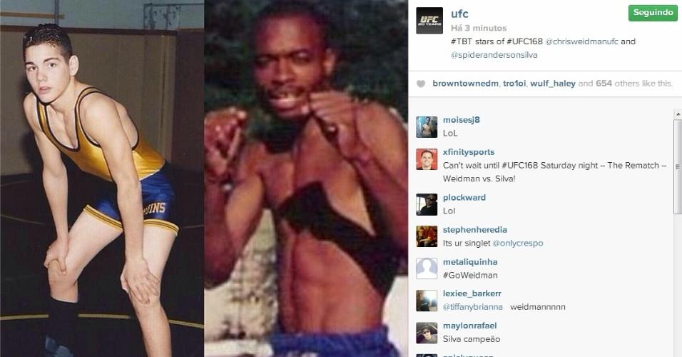 Estrelas da última luta do ano, Chris Weidman e Anderson Silva têm fotos de antes da fama divulgadas pelo UFC