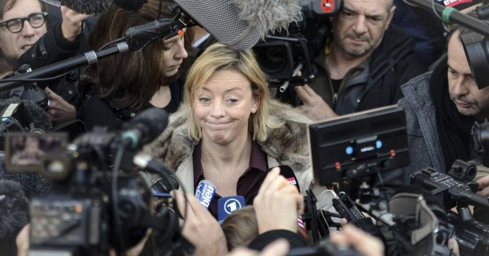 1. jan. 2014 - A porta-voz de Michael Schumacher Sabine Kehm atendeu aos jornalistas nesta quarta-feira, 1 de janeiro