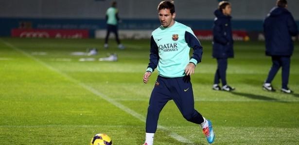 Messi retornou aos treinamentos no Barcelona nesta quinta-feira - MIGUEL RUIZ - FCB