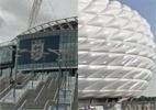 Tente identificar famosos estádios europeus pelas imagens da rua - Arte UOL