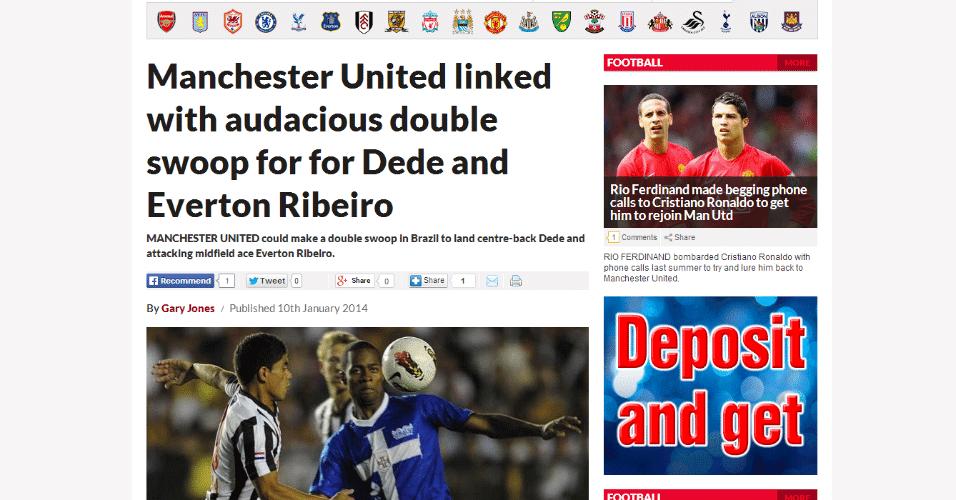 10 jan 2014 - Junto com Everton Ribeiro, zagueiro Dedé (f) é colocado na mira do Manchester United, por jornais ingleses