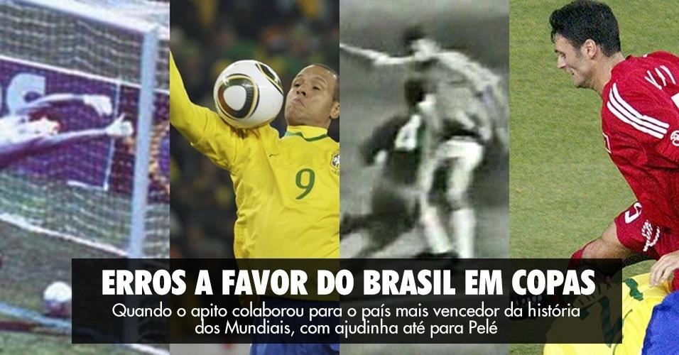 Erros a favor do Brasil em Copas - quando o apito colaborou com o país mais vencedor dos Mundiais, com ajudinha até para Pelé
