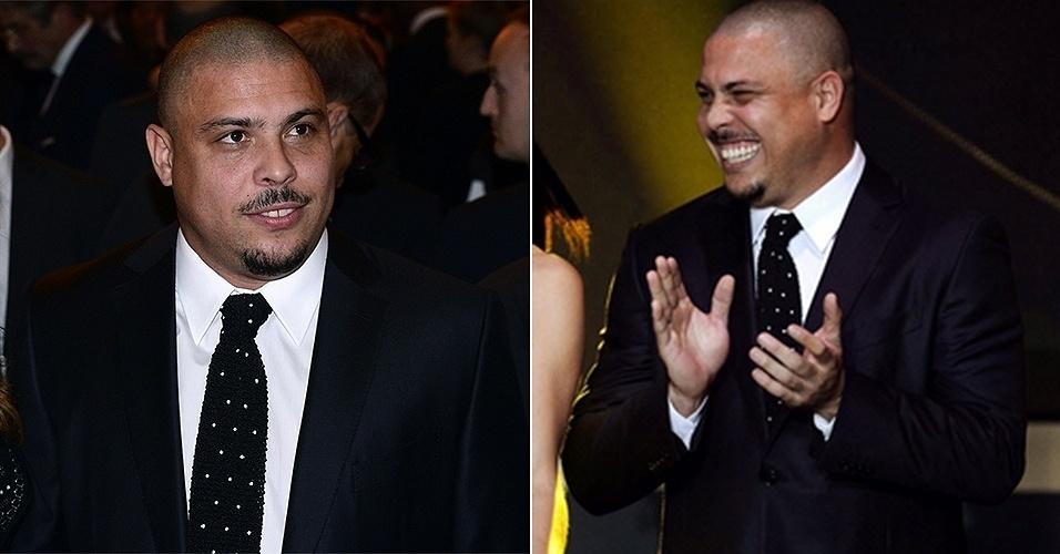 13.jan.2014 - Ronaldo Fenômeno participa da premiação Bola de Ouro 2014