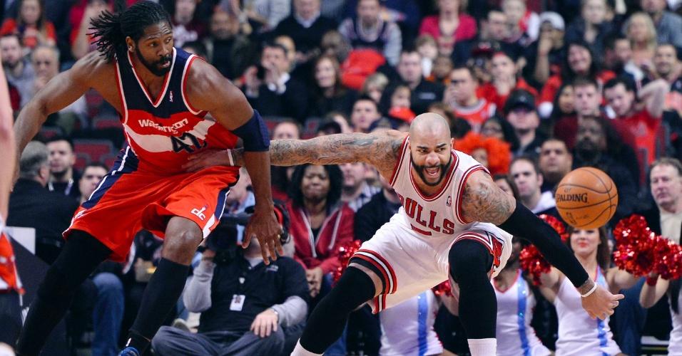 14.01.2014 - O pivô Nenê Hilário liderou o Washington Wizards na vitória sobre o Chicago Bulls