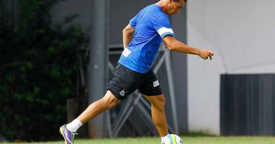 Leandro Damião ainda não treinou com os titulares, pois não poderá estrear neste sábado, na Vila Belmiro