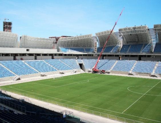 22.jan.2014 - Governo divulga imagens da Arena das Dunas antes da inauguração