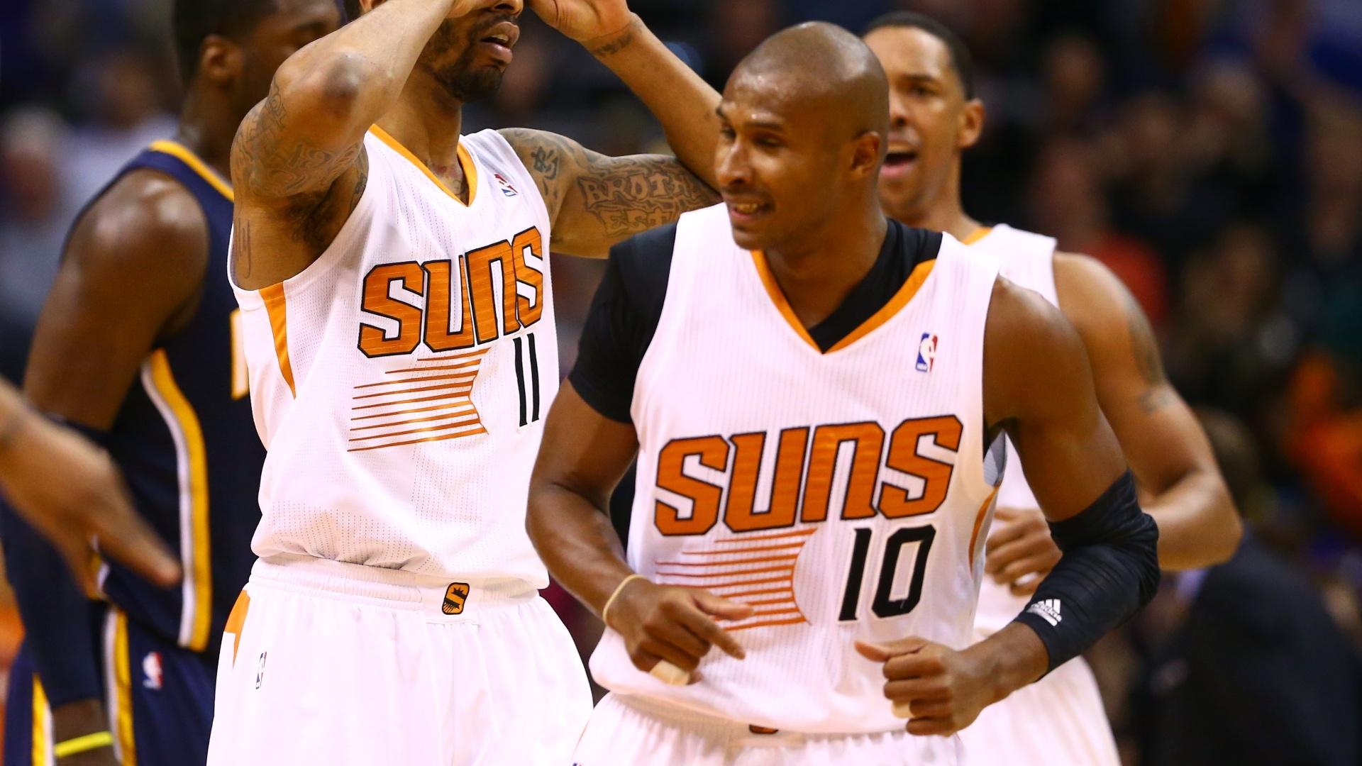 23.jan.2014 - O ala-armador brasileiro Leandrinho teve uma atuação abaixo da média ao marcar quatro pontos na vitória dos Suns