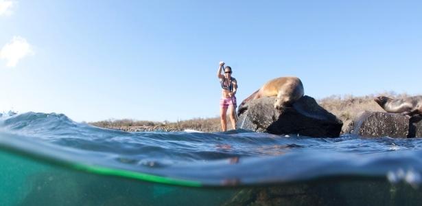 O contato com a natureza é um dos prazeres do stand up paddle