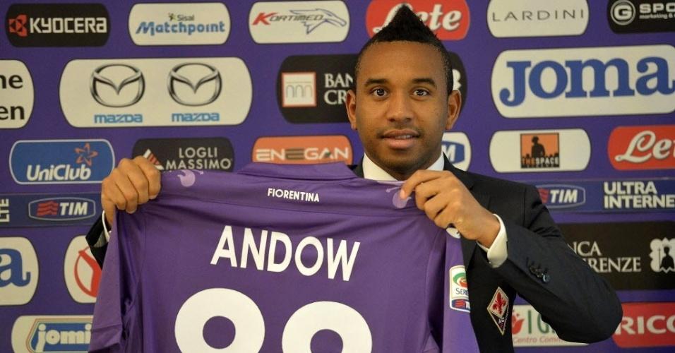 30. jan. 2014 - Anderson é apresentado na Fiorentina