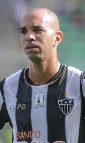 2 fev 2014 - Atacante Diego Tardelli durante vitória do Atlético-MG sobre o Nacional, por 2 a 1, no Independência