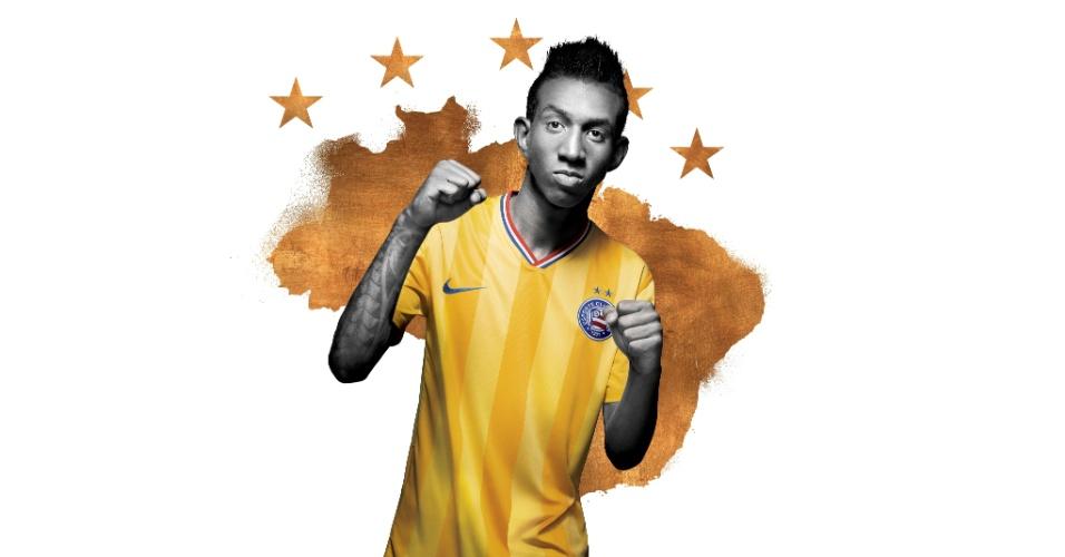 04.02.2014 - Nike faz homenagem à seleção brasileira e coloca a cor amarela nos uniformes do times parceiros da marca