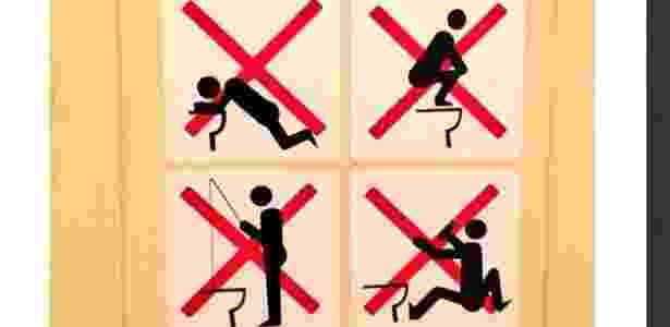 Instruções para uso dos banheiros nas Olimpíadas de Inverno são mais que curiosas, são bizarras! - Reprodução/Twitter