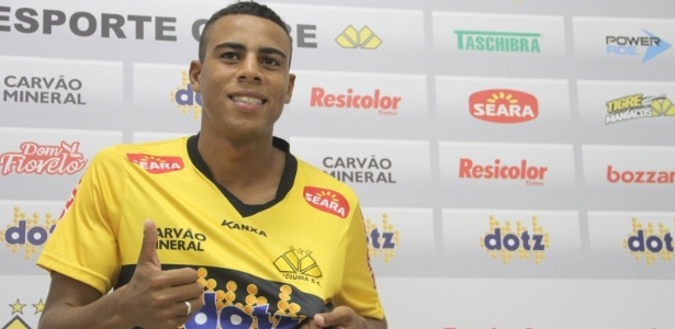 Gustavo, do Criciúma, é um dos jogadores na mira do Corinthians