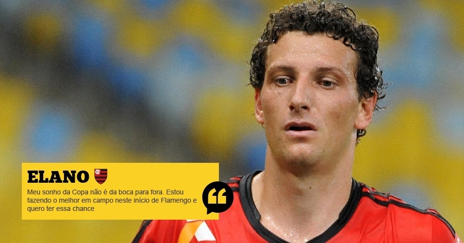 Elano (Flamengo): Meu sonho da Copa não é da boca para fora. Estou fazendo o melhor em campo neste início de Flamengo e quero ter essa chance