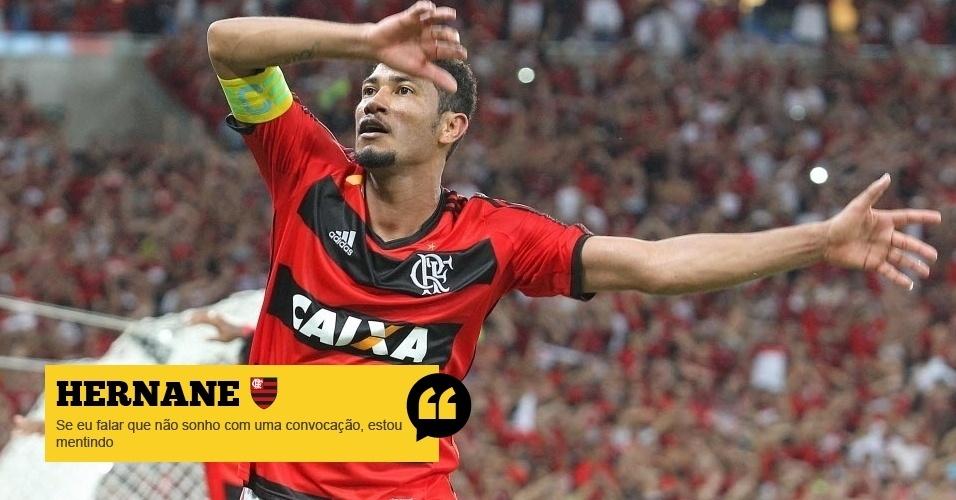 Hernane (Flamengo): Se eu falar que não sonho com uma convocação, estou mentindo