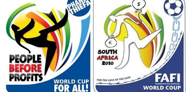 Cartaz faz paródia com atuação da Fifa na África do Sul em 2010