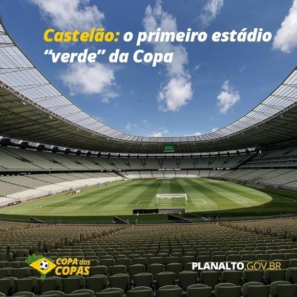 """Castelão obteve 47 pontos em certificação Leed e foi considerado """"verde"""". Na Copa de 2018, ele não poderia ser usado pois o mínimo aceito será 49 pontos"""