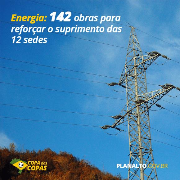 Governo tem 142 projetos para para reforçar abastecimento de energia durante a Copa, mas só 80 foram concluídos