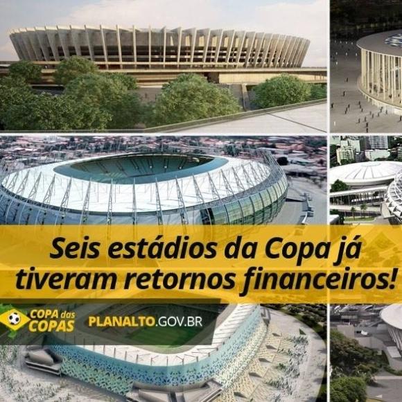 Governo usou dados errados para afirmar que estádios da Copa do Mundo já inaugurados deram retorno financeiro