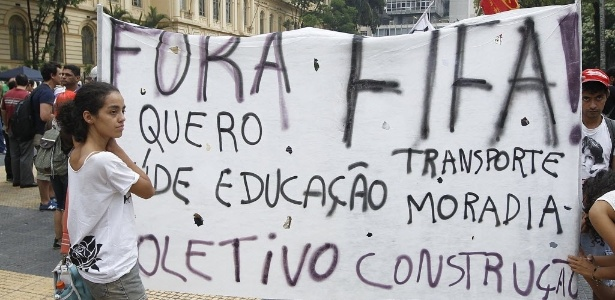 Desde o ano passado, os protestos contra a Copa se espalharam pelo Brasil
