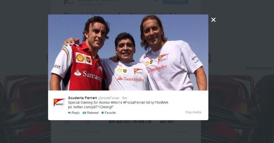 Alonso se encontra com Maradona e Michel Salgado em Dubai