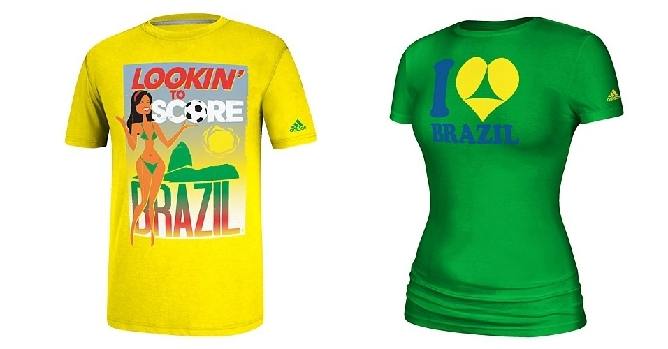A Adidas lançou duas camisetas relacionadas à Copa no Brasil que têm gerado polêmica. A conotação sexual fez a Embratur protestar contra o produto