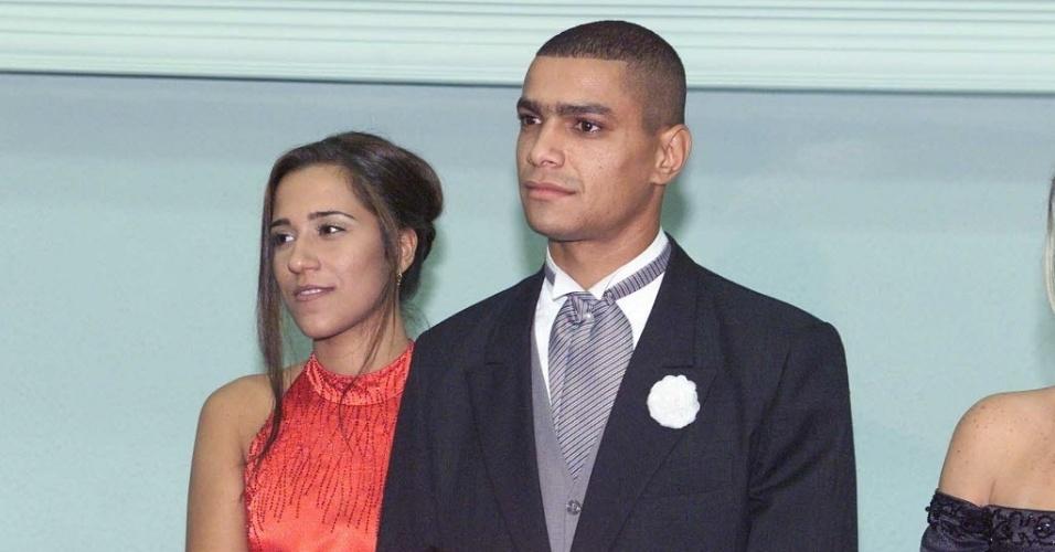 Fabiano com a mulher Vanessa, filha do treinador Vanderlei Luxemburgo