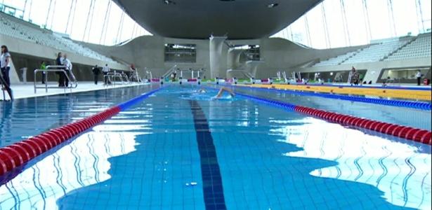 Uso das três piscinas usadas nos Jogos de 2012 é liberado a preços populares - BBC