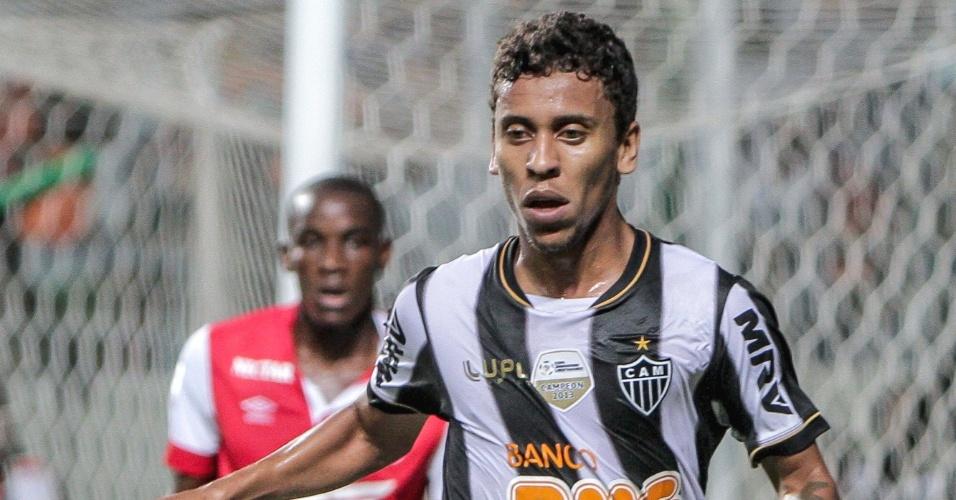 26 fev. 2014 - Lateral Marcos Rocha durante a vitória do Atlético-MG sobre o Santa Fé, por 2 a 1, pela Libertadores
