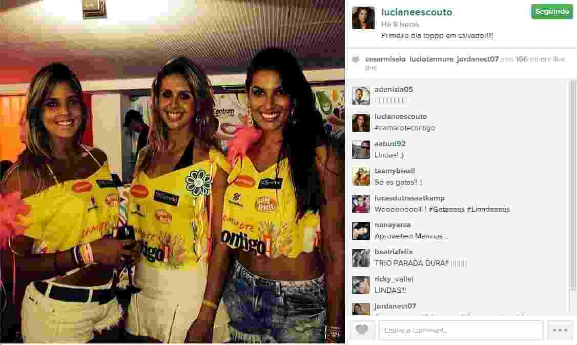 As jogadoras de vôlei Mari Paraíba, Natasha Valente e Luciane Escouto - Reprodução/Instagram