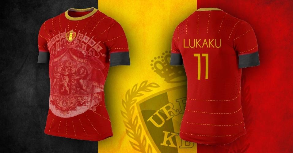 Símbolos antigos da Bélgica dominaram o peito da camisa alternativa