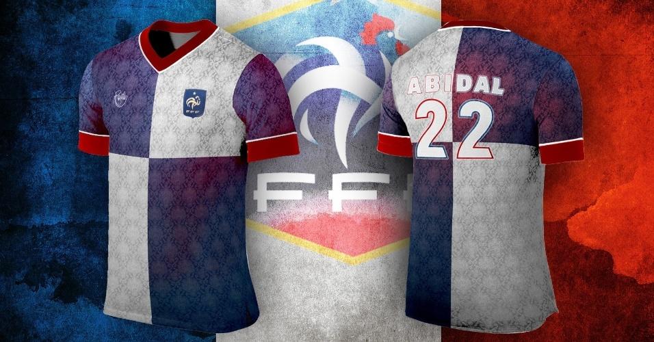 Camisa alternativa da França criada por artista para a Copa do Mundo