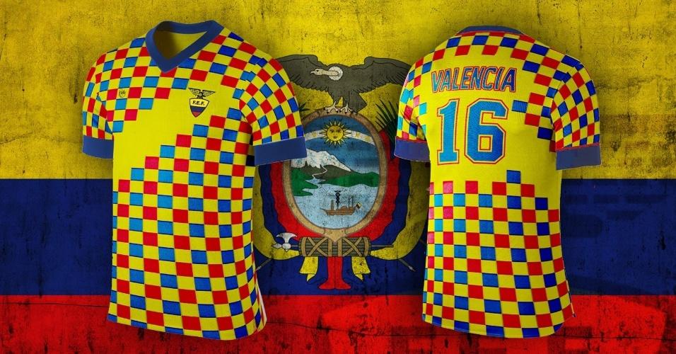 O Equador ganhou um modelo quadriculado com as cores da bandeira nacional