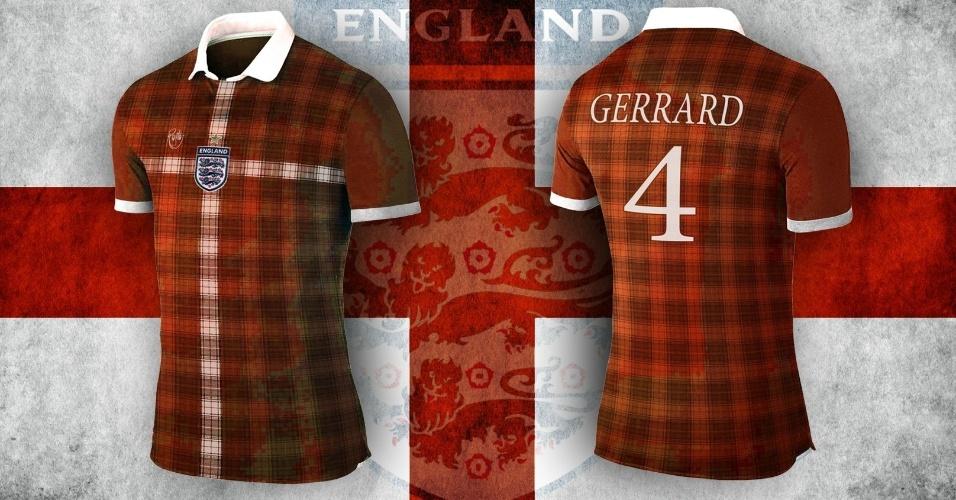 Trajes típicos da Inglaterra inspiraram a camisa alternativa da seleção local