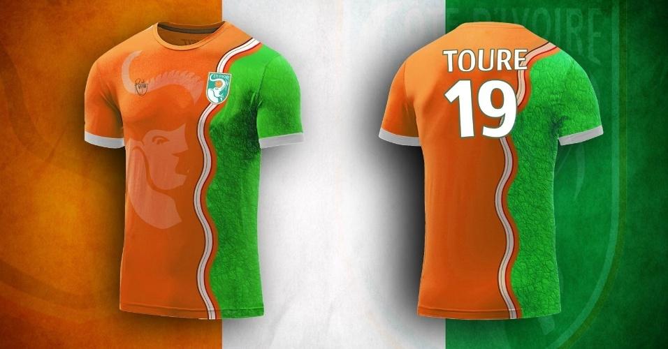 Distintivo da federação nacional foi inspiração para a camisa da Costa do Marfim