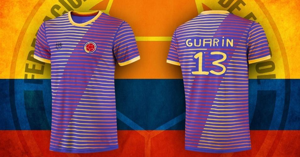 Camisa da Colômbia é uma verdadeira mistura de cores