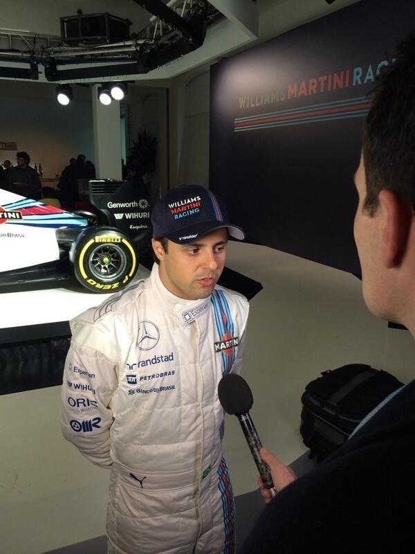 06.mar.2014 - Brasileiro Felipe Massa concede entrevista na apresentação do novo carro da Williams para a temporada de 2014 da Fórmula 1