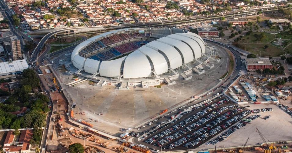 31.jan.2014 - Imagem aérea da Arena das Dunas, em Natal