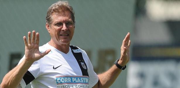O técnico Oswaldo de Oliveira ressalta que nem sempre o Santos vai ganhar os jogos com goeladas - Ivan Storti/Divulgação Santos FC