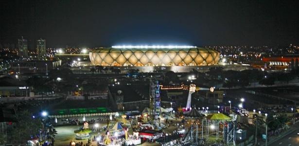 Custo de manutenção da arena, calculado em R$ 500 mil mensais, é pago pelo Estado do Amazonas