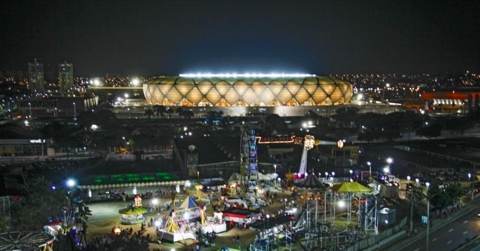 09.mar.2014 - A Arena da Amazônia foi inaugurada neste domingo, mesmo estando com 98% das obras concluídas