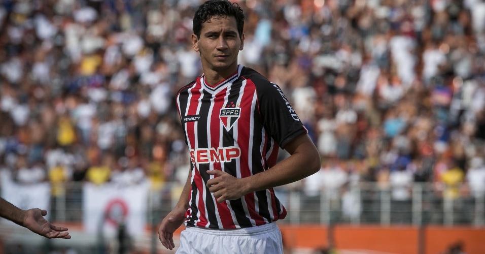 09.mar.2014 - Paulo Henrique Ganso corre durante clássico entre São Paulo e Corinthians pelo Paulista