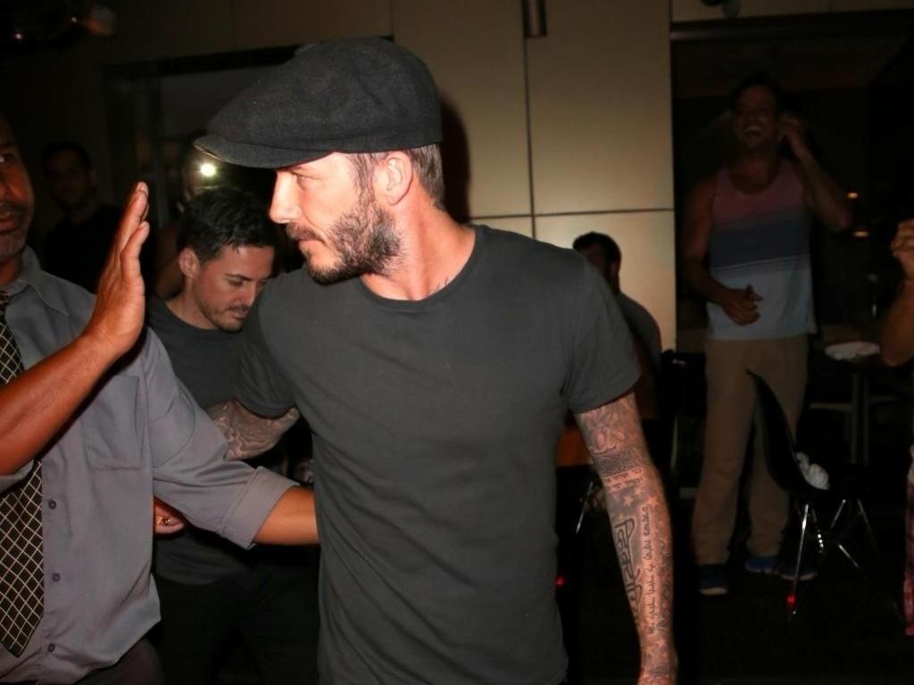 David Beckham veio ao Rio de Janeiro e acompanhou o desfila das campeãs do carnaval do Rio de Janeiro
