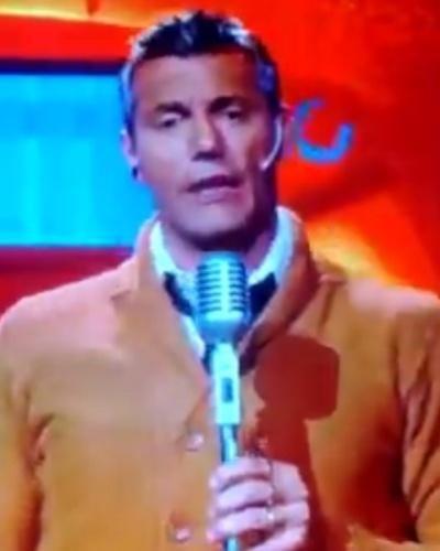 Goycochea durante apresentação do seu programa, chamado Fox para todos