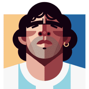 11.03.2014 - Caricatura de Diego Maradona, craque argentino nas Copas de 1982, 1986, 1990 e 1994, por Daniel Nyari - Daniel Nyari