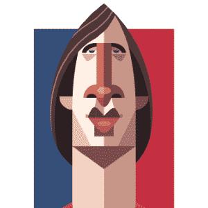 11.03.2014 - Caricatura de Johan Cruyff, craque holandês na Copa de 1974, por Daniel Nyari - Daniel Nyari