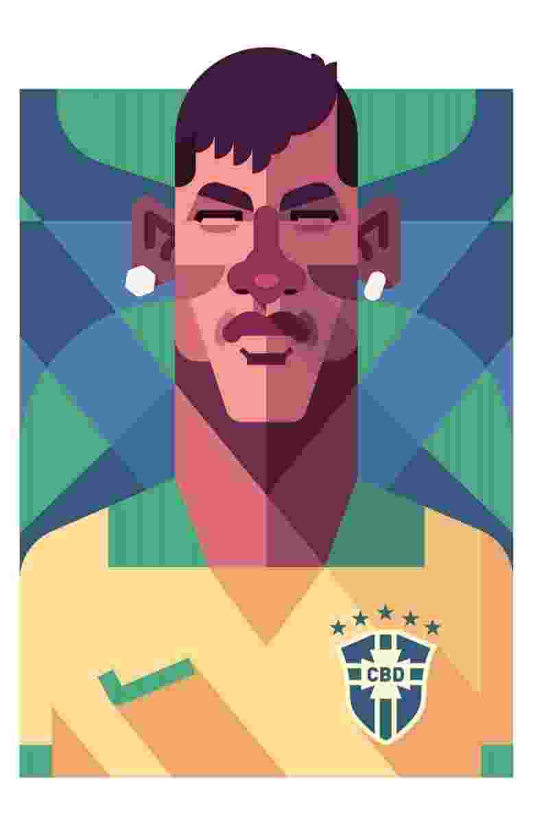 11.03.2014 - Caricatura de Neymar, esperança brasileira para a Copa de 2014, por Daniel Nyari - Daniel Nyari